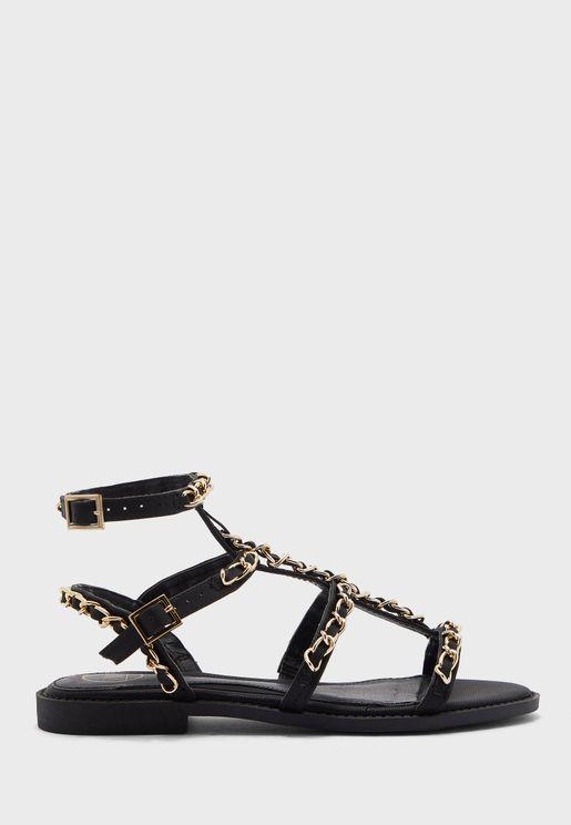 Chain Gladiator Sandals
