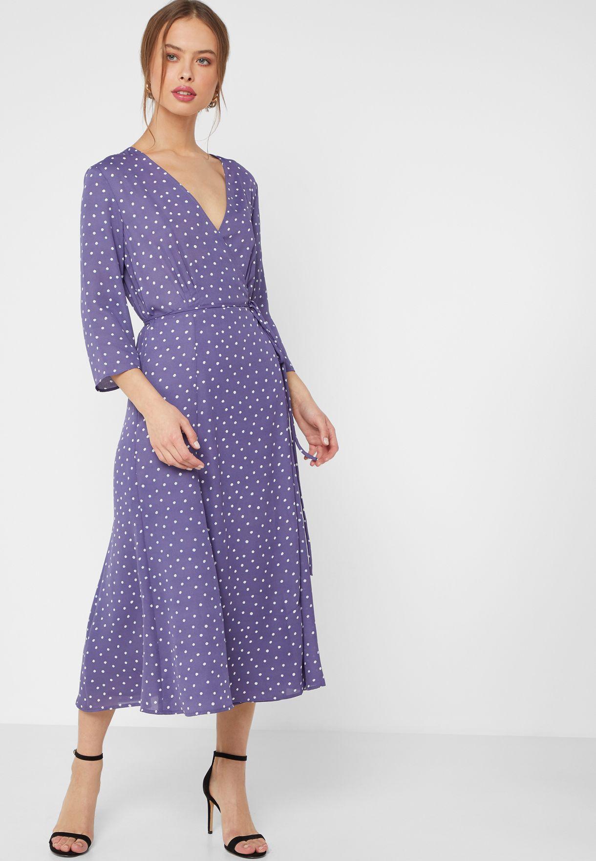 3322761d33 Shop Mango prints Polka Dot Wrap Dress 43063714 for Women in Kuwait -  18840AT13LTP