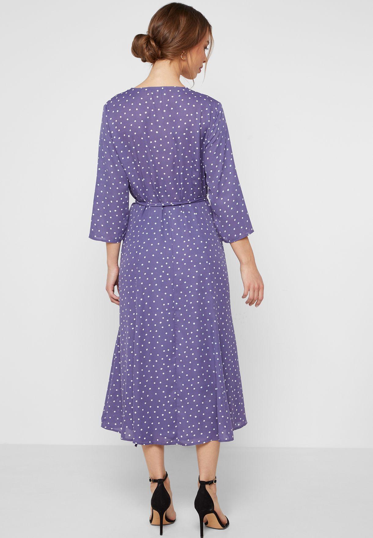 62d4377f30 Shop Mango prints Polka Dot Wrap Dress 43063714 for Women in ...