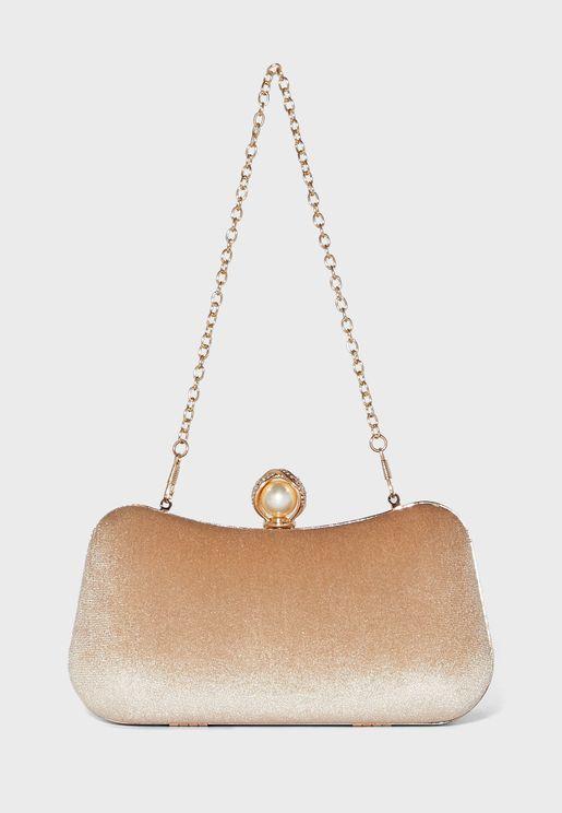 Pearl Clasp Clutch Bag