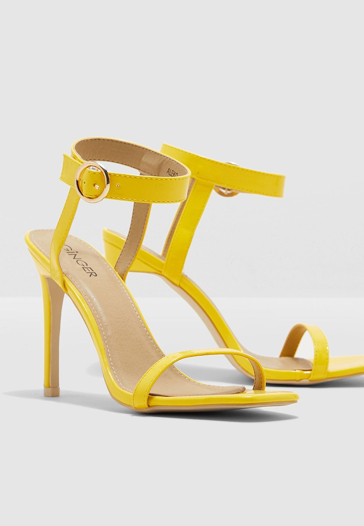 Barely There Sandal With Square Toe