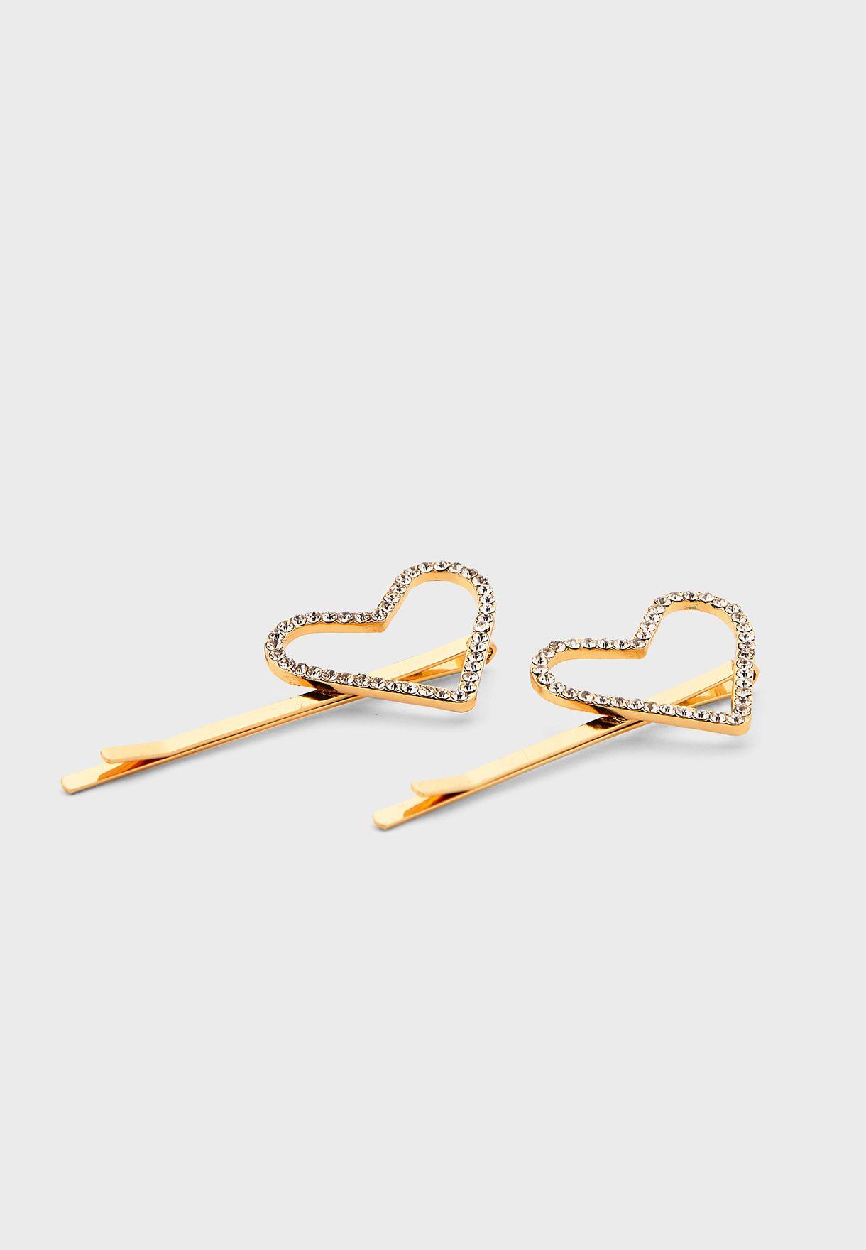 Diamante Heart Slides