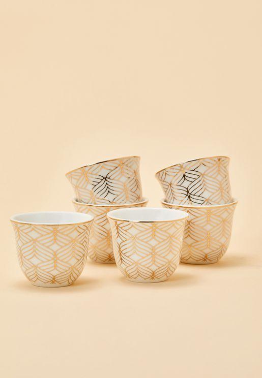 6 Pack Arabic Coffee Cups