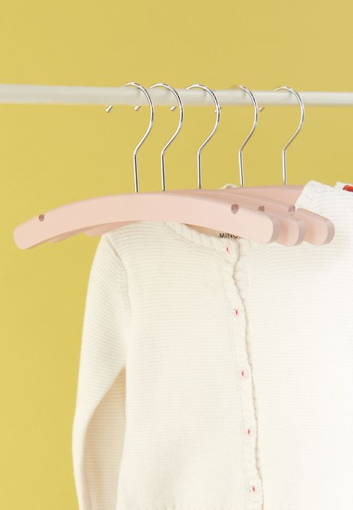 Set Of 5 Baby Clothes Hangers