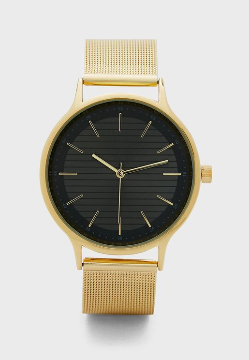 Mesh Strap Dress Watch