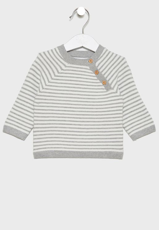 Infant Striped Knitted Sweater
