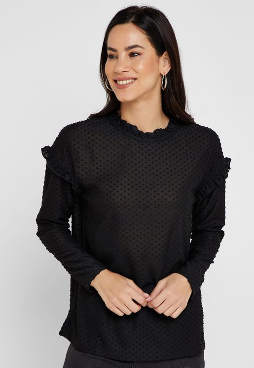 Frill Sleeve Detail Top