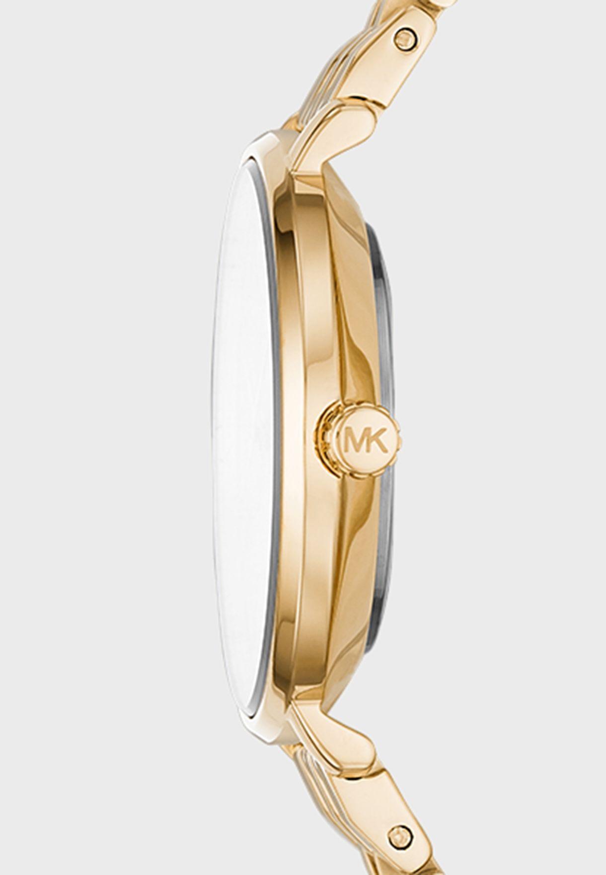 Steel Strap Analog Watch + Bracelet gift set