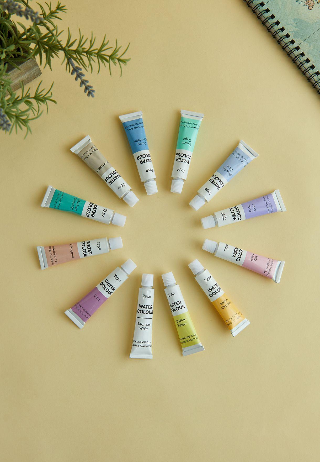 مجموعة ألوان مائية باستيل