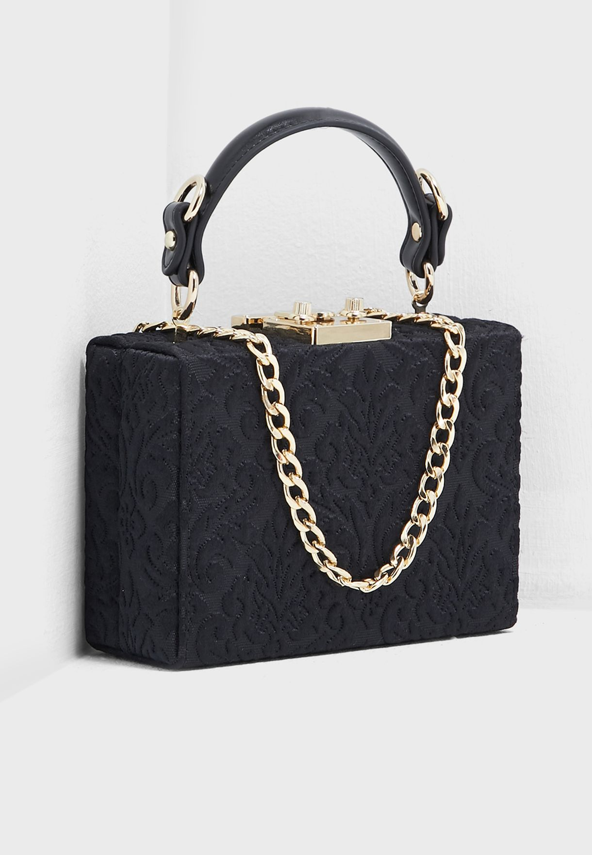 Quilted Hard Case Satchel