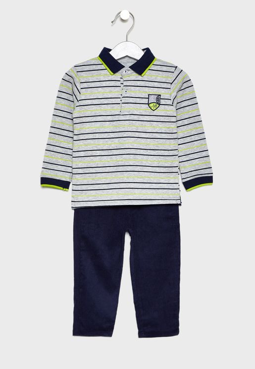 Kids Striped T-Shirt + Jogg Jeans Set