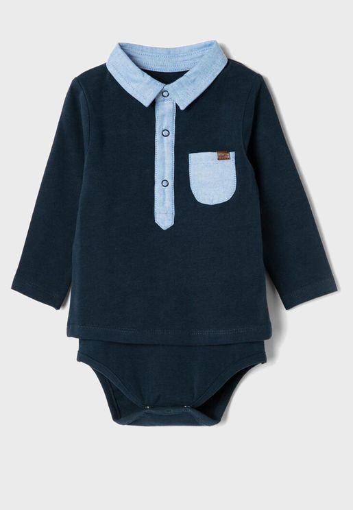 Infant Essential Polo Bodysuit