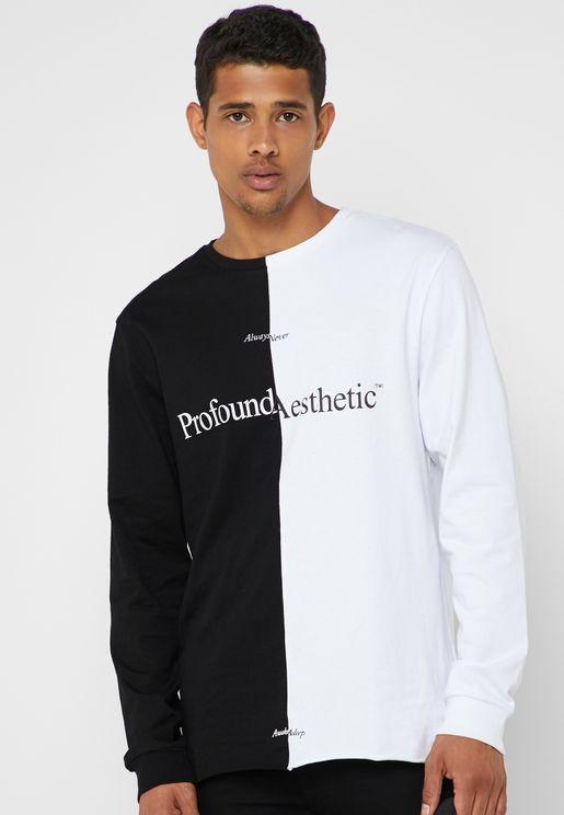 Opposites Split Hem Graphic Sweatshirt