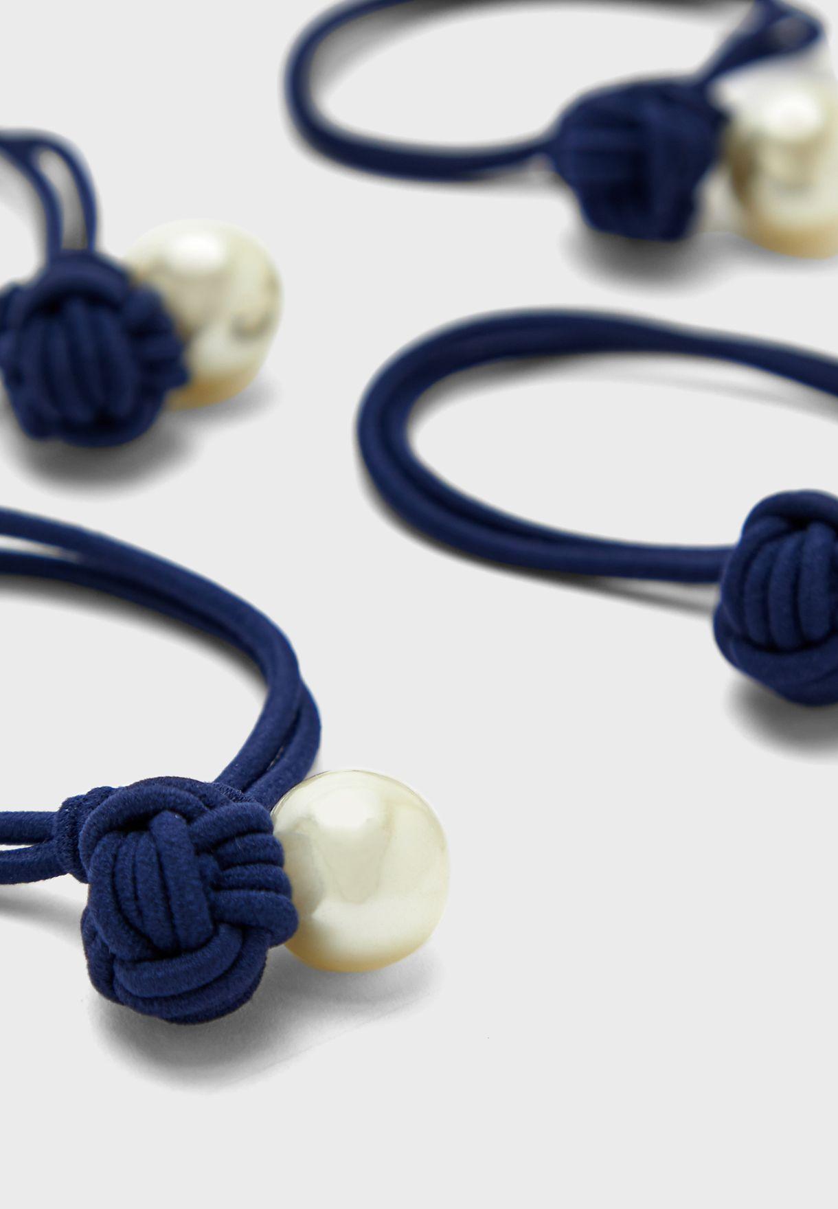 Multipack Pearl Hair Tie