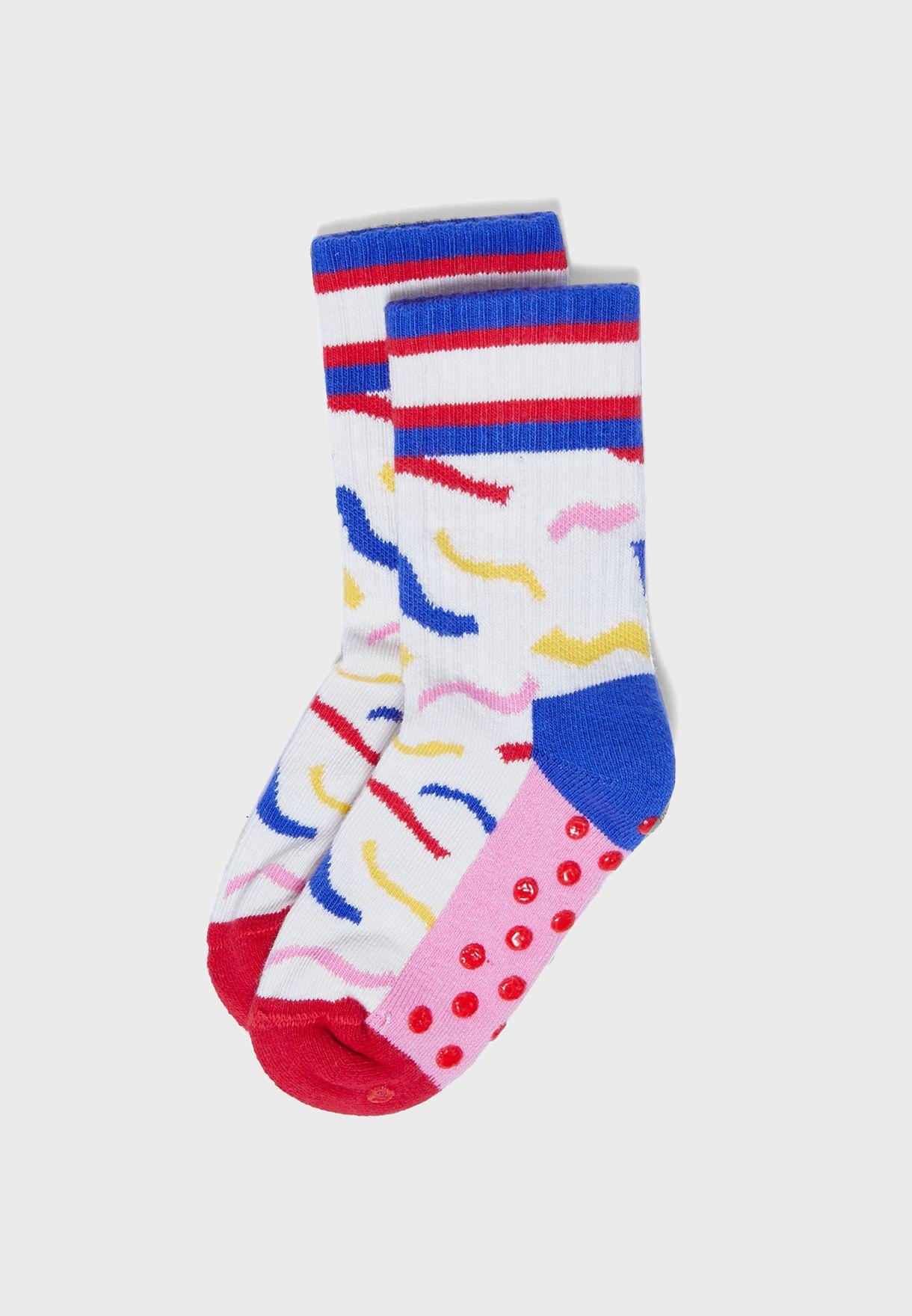 Kids Stripped Rib Socks