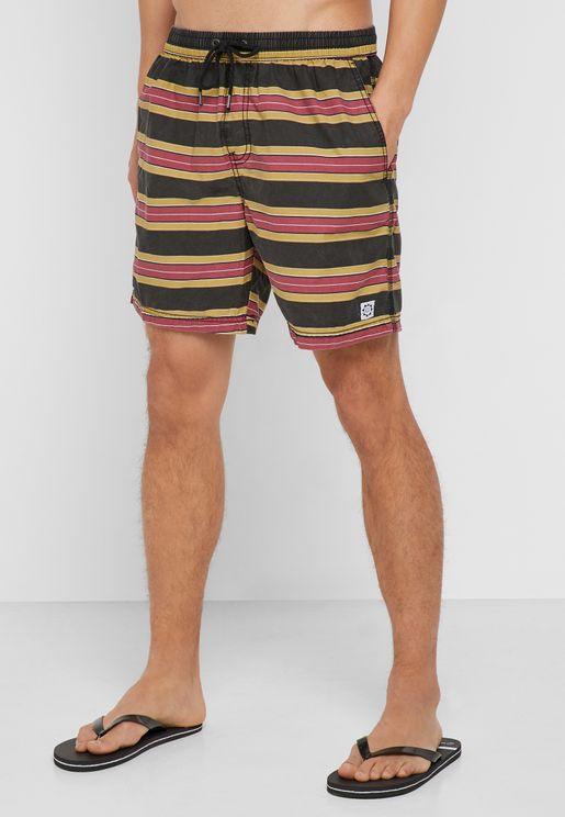 Hoff  Striped Swim Shorts