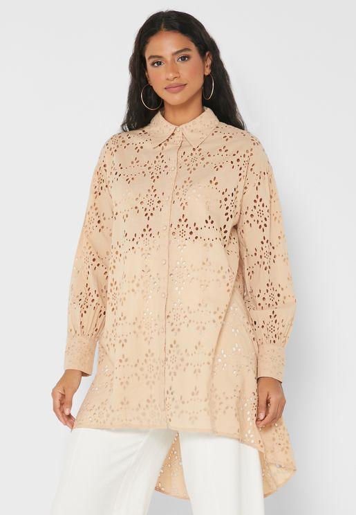 Button Down Lace Dress