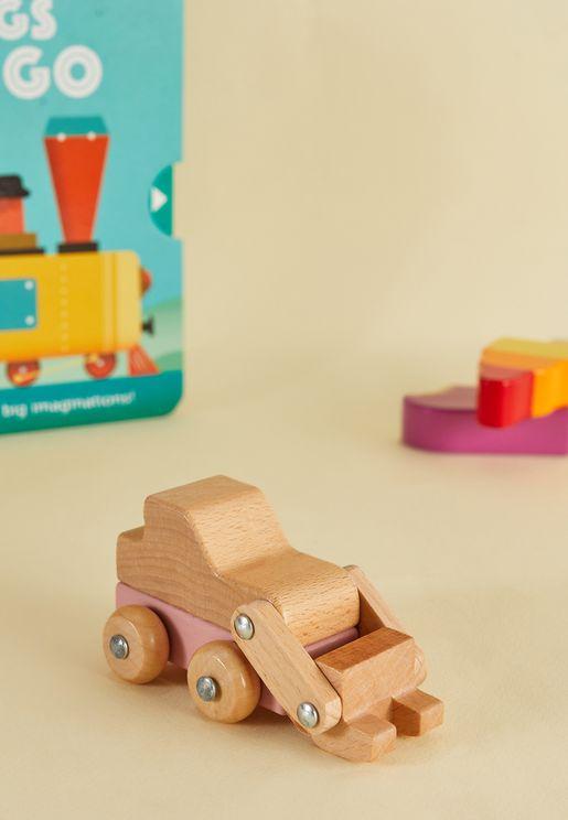 لعبة خشبية حفارة