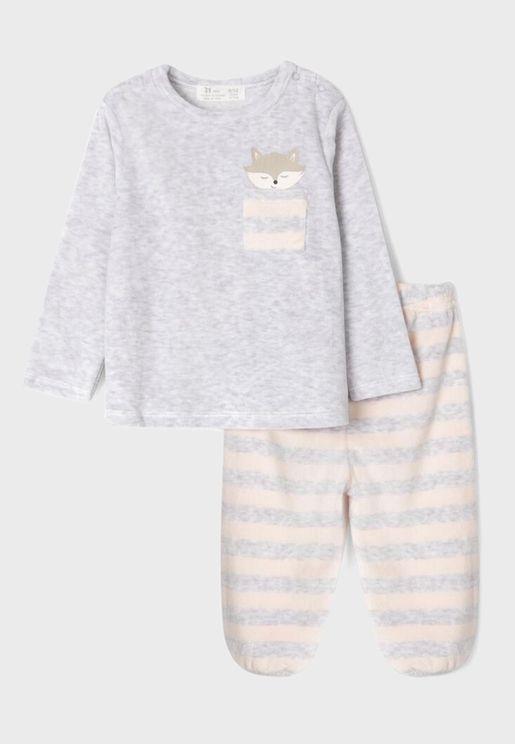 Infant Striped Pyjama Set