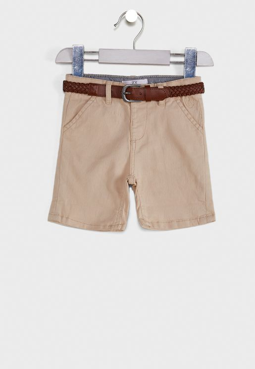 Infant Belted Chino Shorts