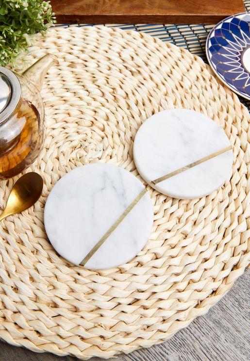 Set of 2 Marble Coasters