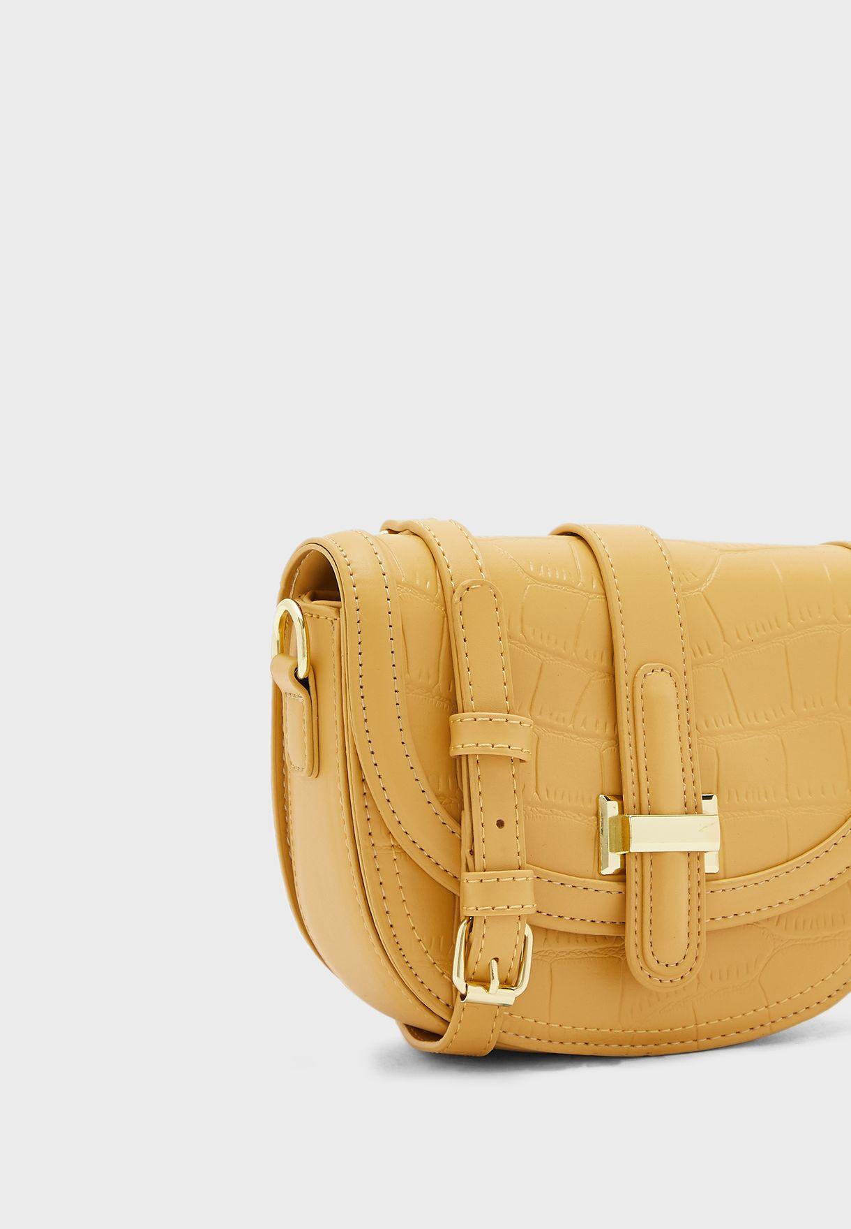 Croc  Crossbody Saddle Bag