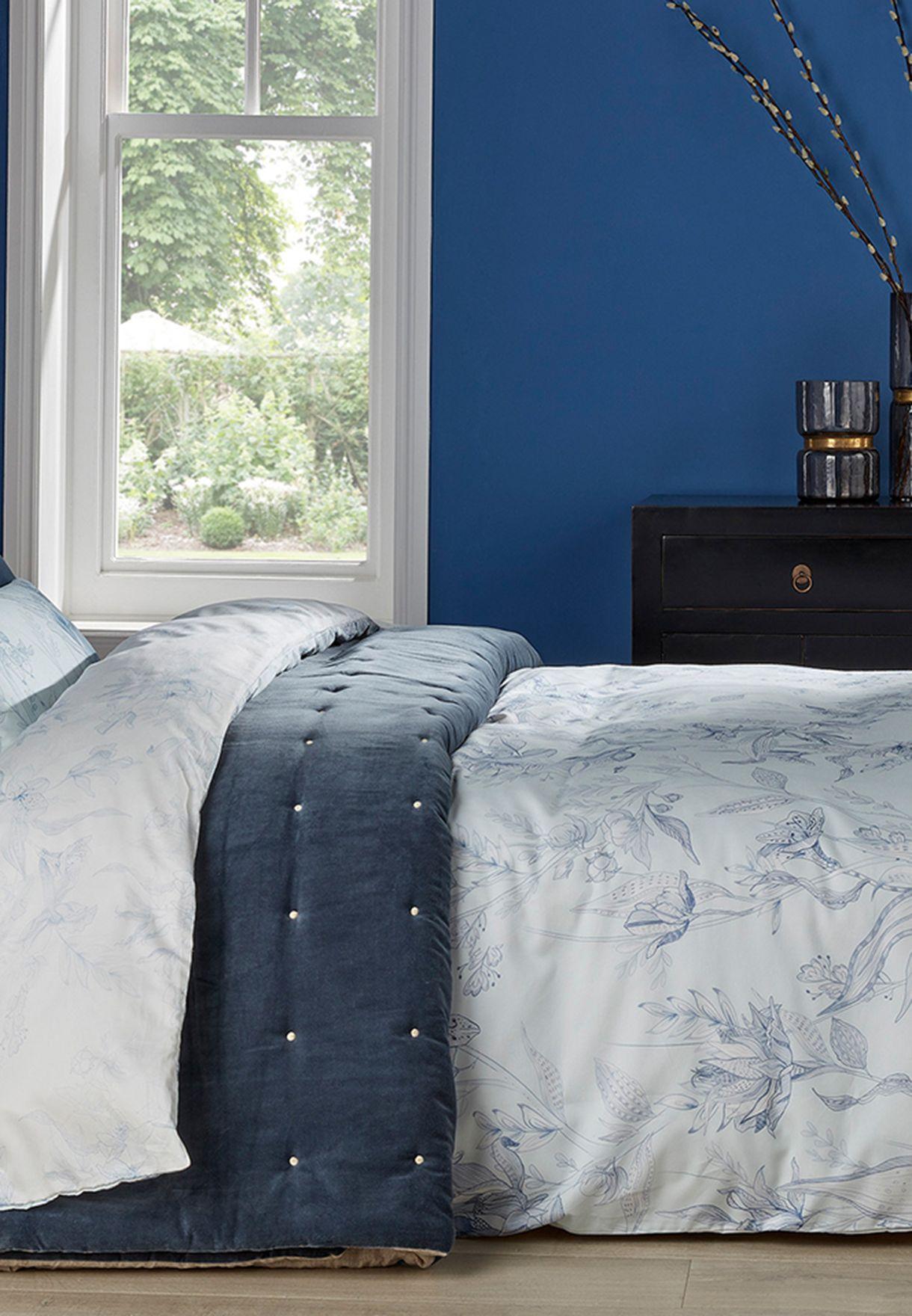 غطاء سرير ولحاف سوبر كينغ بزهور