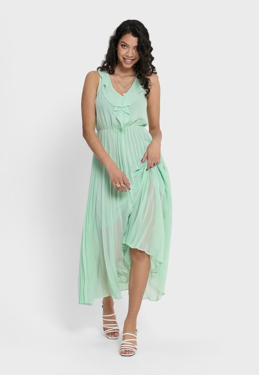 Ruffle Detail Sleeveless Dress