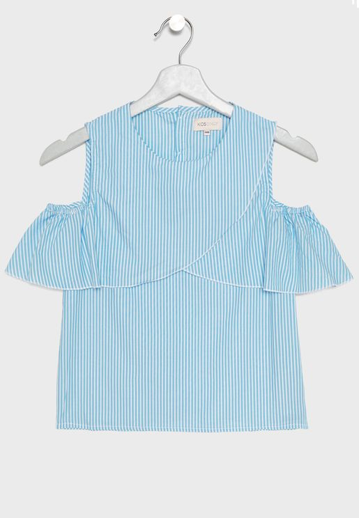 Kids Cold Shoulder Top