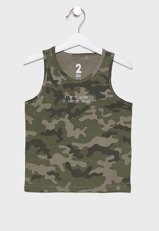 Kids Camo Print Vest