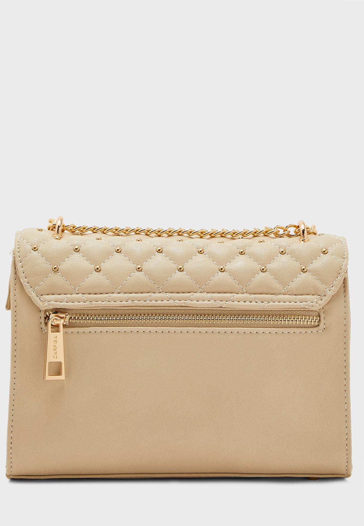 Chain Detail Push Lock Crossbody