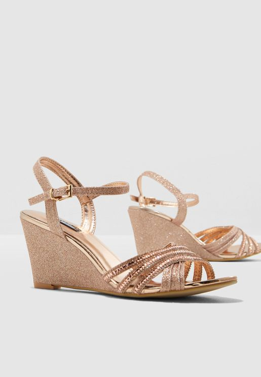 Diamante Wedge Sandals