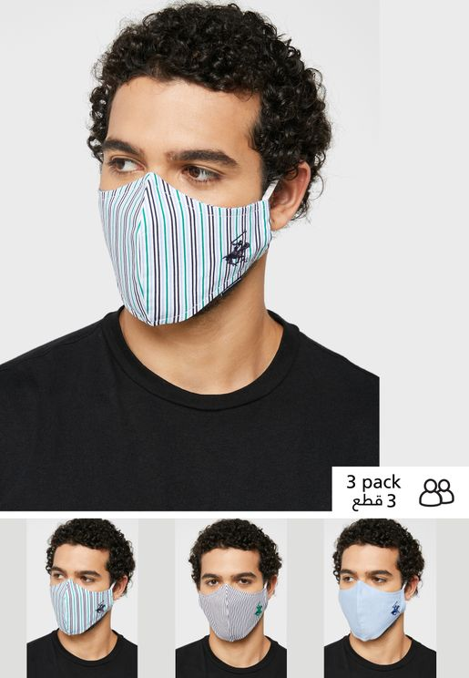 Pack of 3 Printed Masks Without Valve