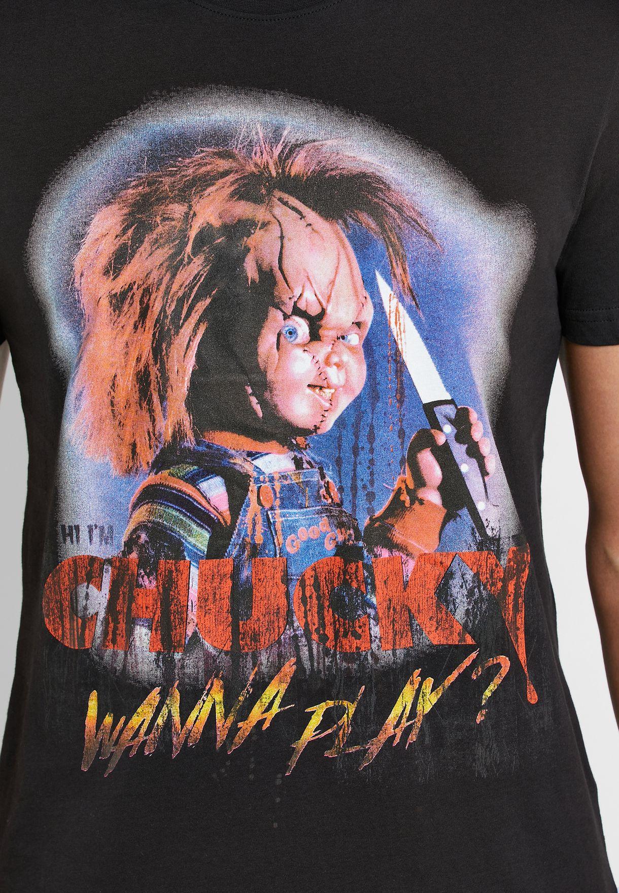 Chucky Graphic Crew Neck T-Shirt