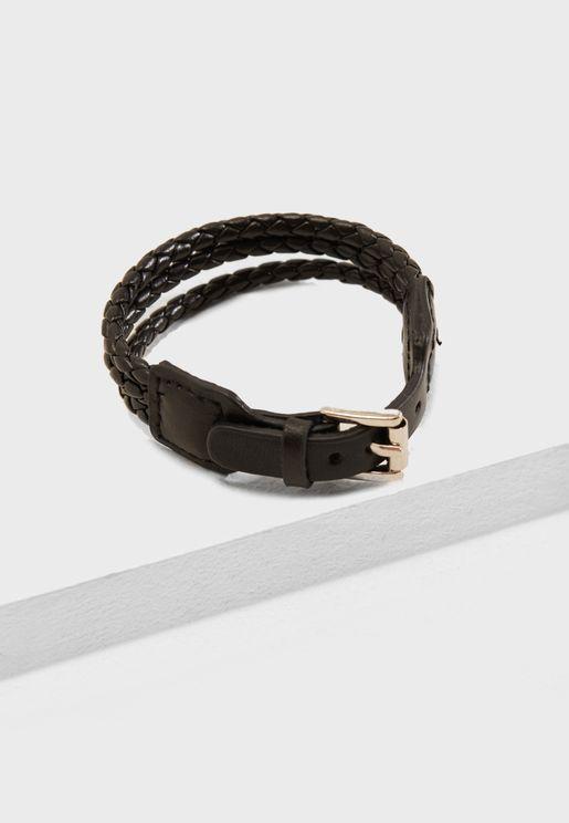 Braided Buckle Bracelet