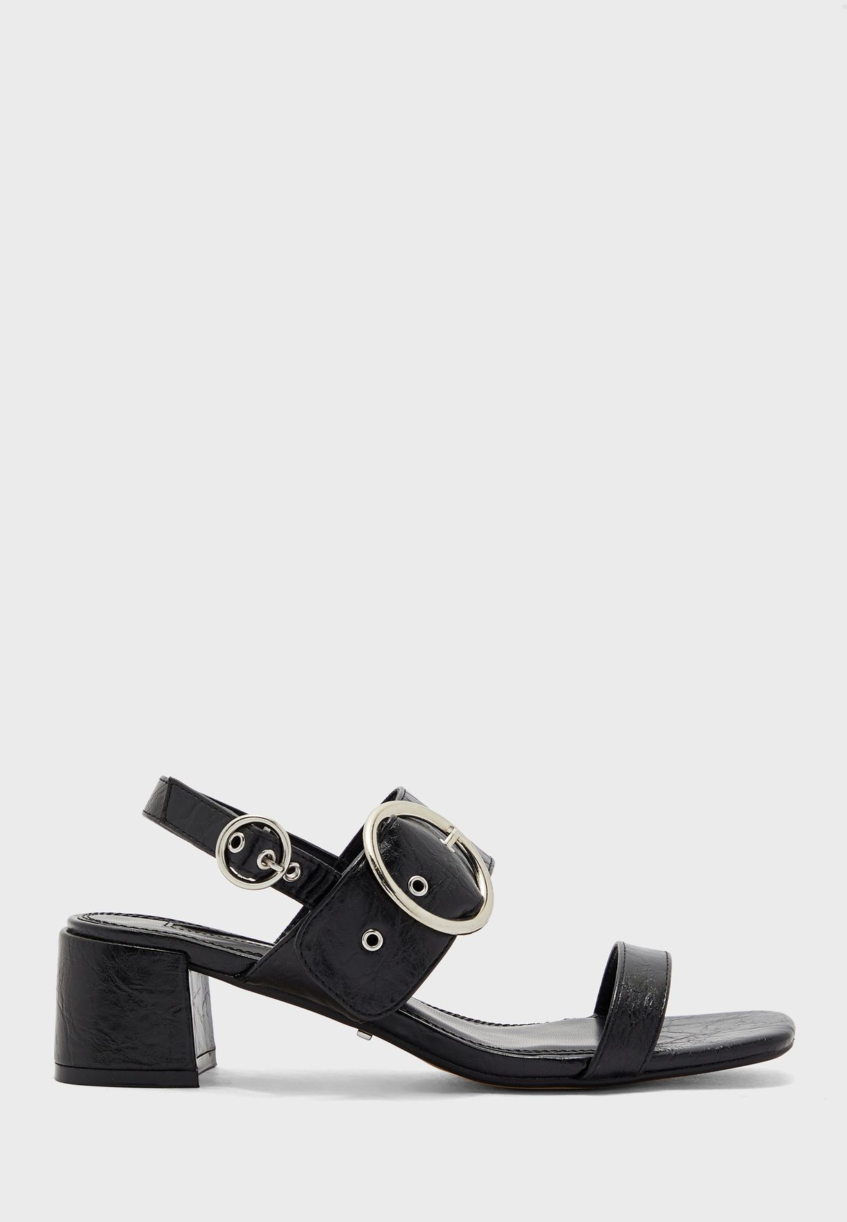 Dakota Buckle Block Sandal