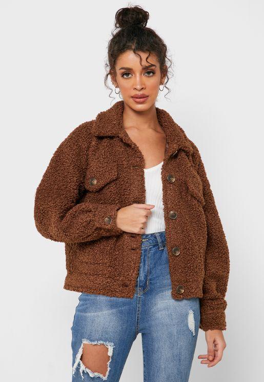 Oversized Teddy Jacket