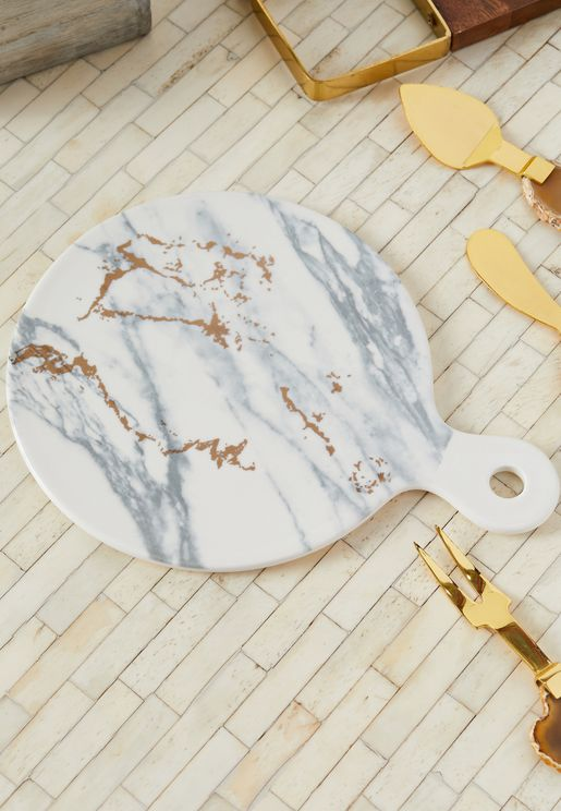 Luxe Marble & Gold Finish Luxe Cheese Board