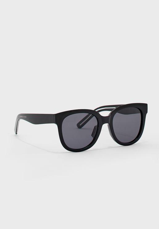 Round Resin Frame Polarized Sunglasses