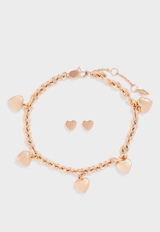 JGFTSET1037 Bracelet+Earrings Set