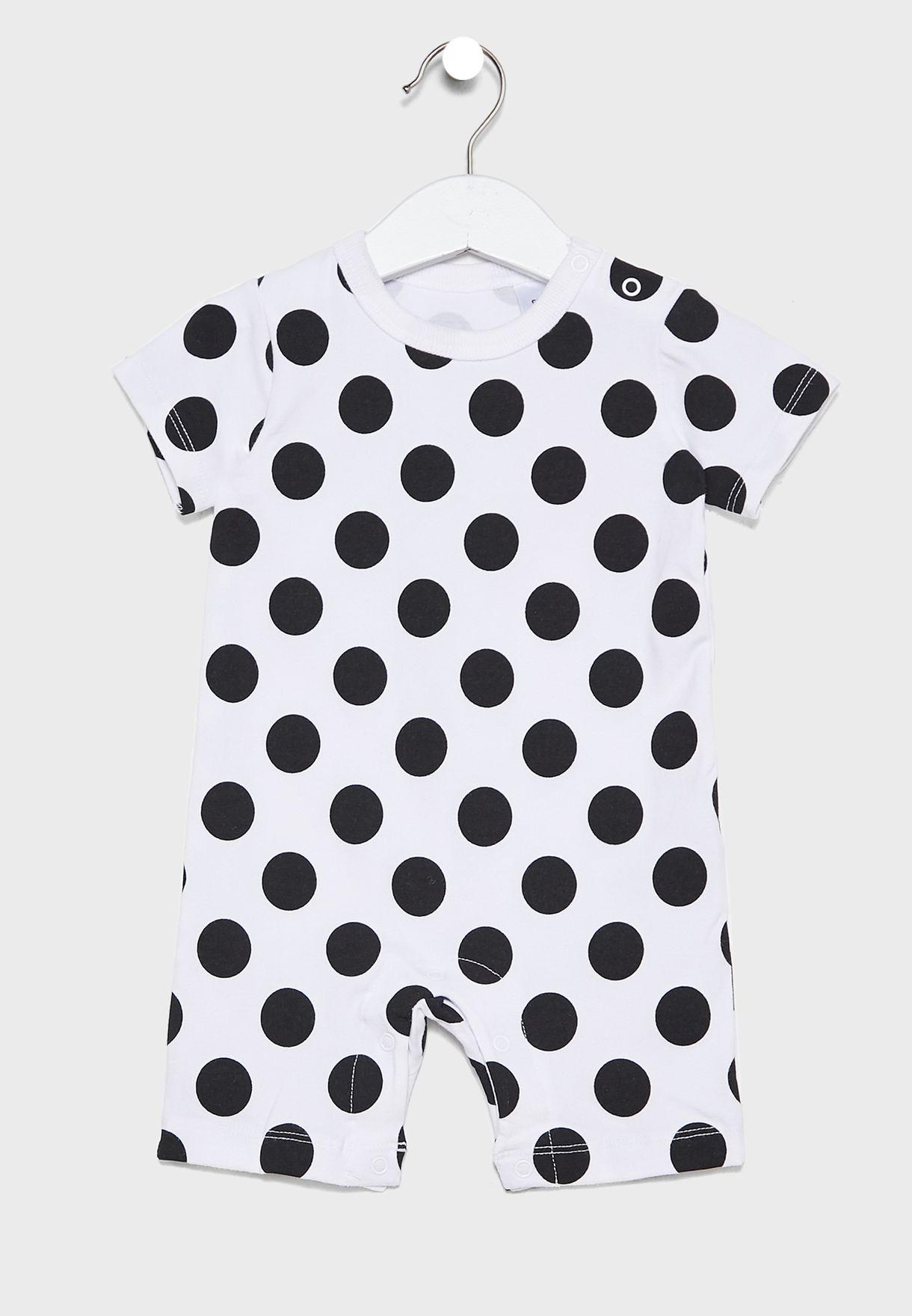 Infant Infant Dot Print  Romper
