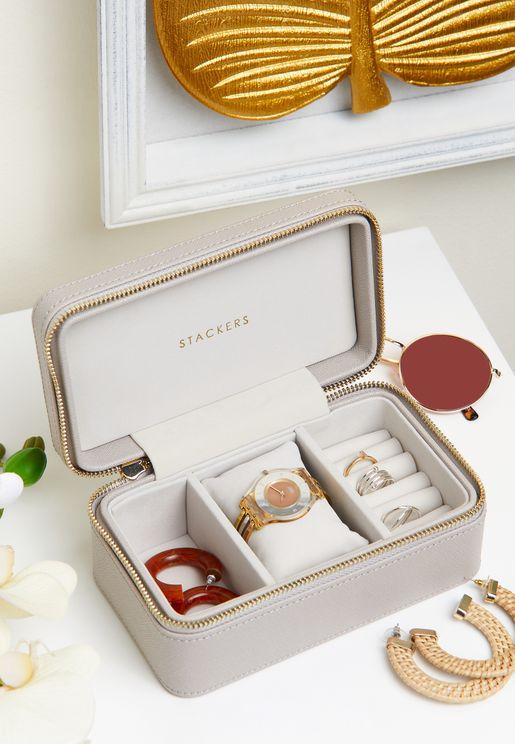 Taupe Jewellery & Watch Box