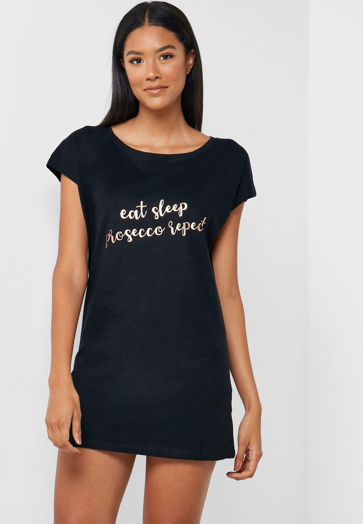 Slogan Boyfriend Nightdress