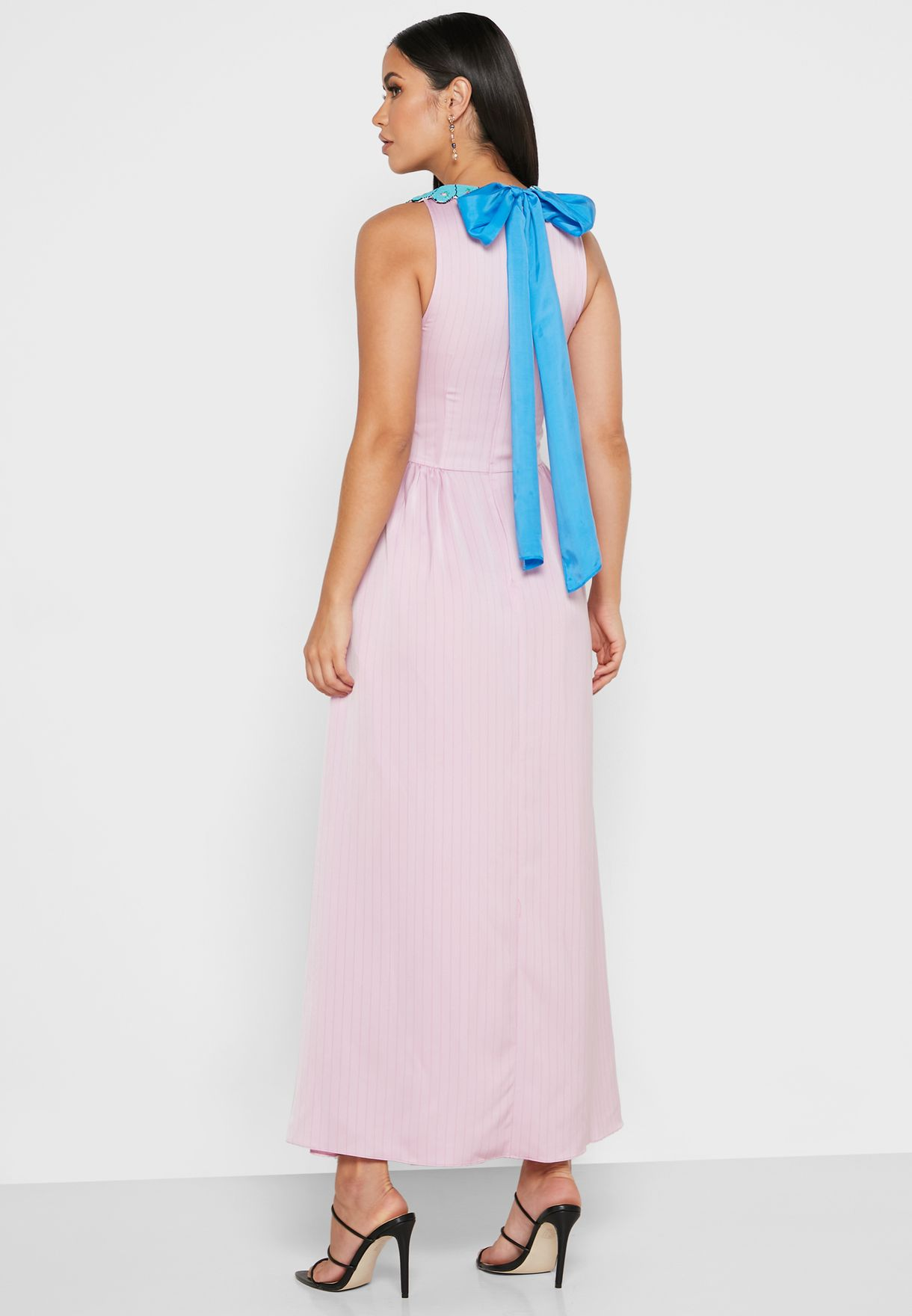 Julianne Embellished Tiered Maxi Dress