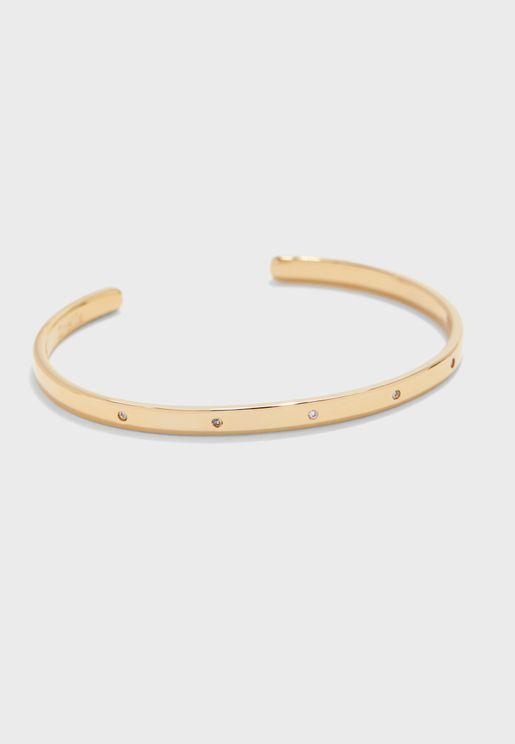 Crystal Detail Open Bracelet