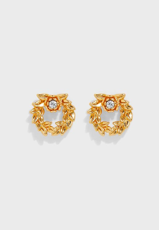 Crown Of Laurels Stud Earrings