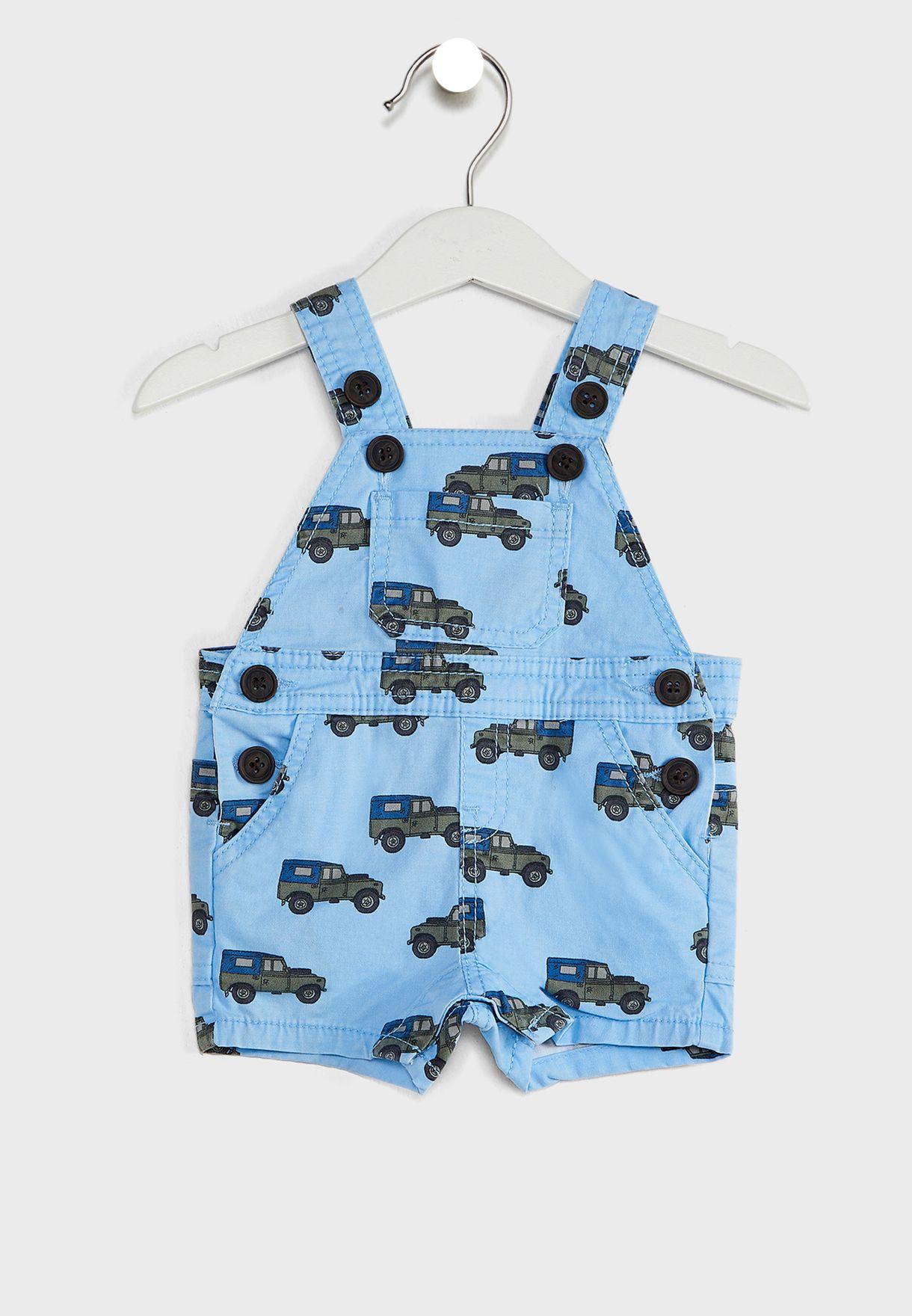 Infant Jeep Print Dungaree