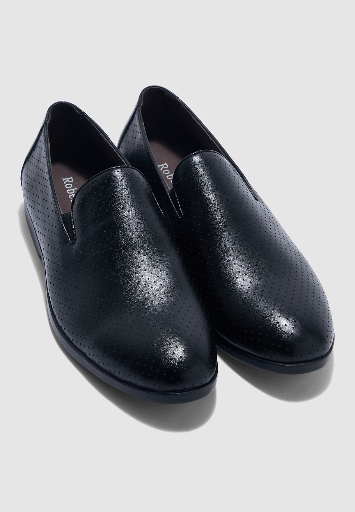 Perforated Formal Slip Ons