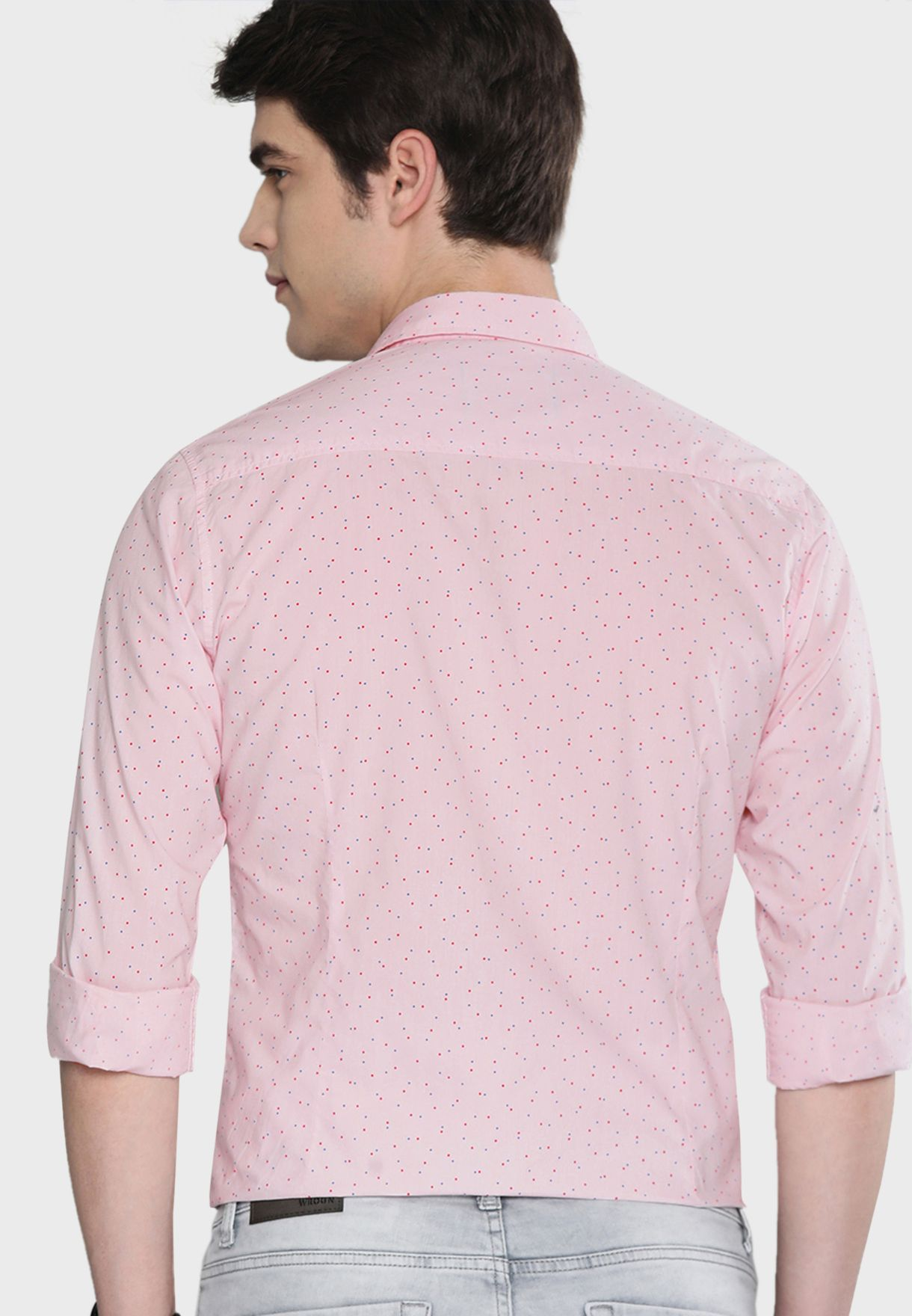 Micro Print Regular Fit Shirt