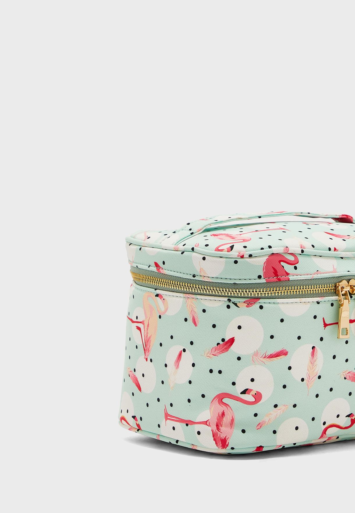 Flamingo Print Cosmetic Case